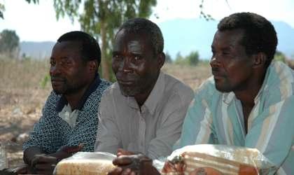 Three men in Malawi
